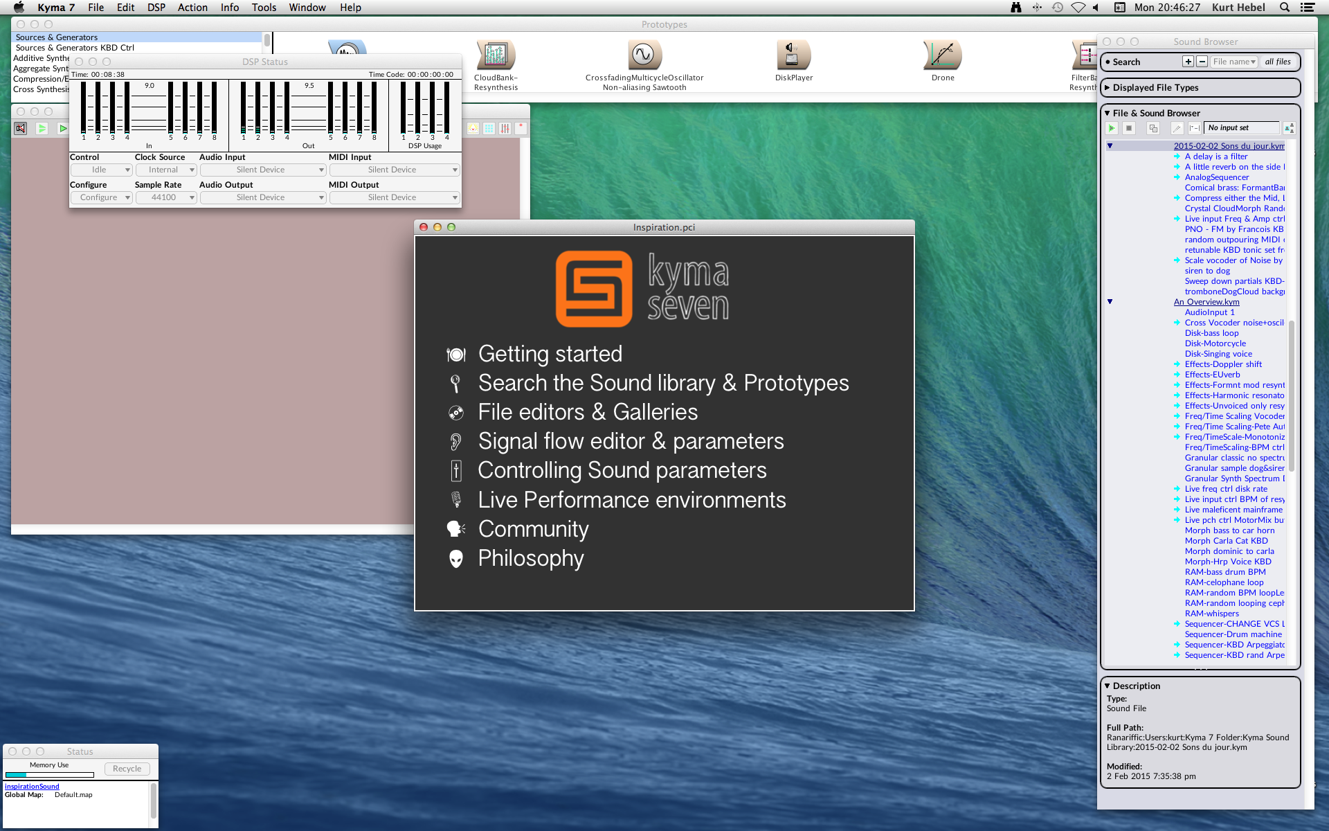 Kyma-Start-Up-Screen