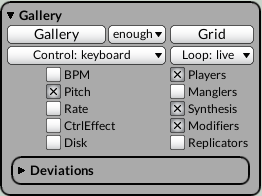 Multigrid gallery keyboard pitch players synthesis