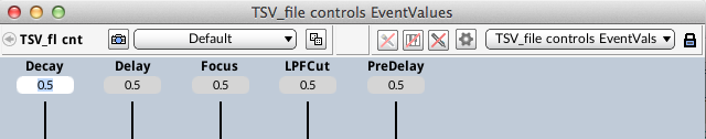 Figure 9. Controlling EventValues with MIDI Script removes them from the VCS.